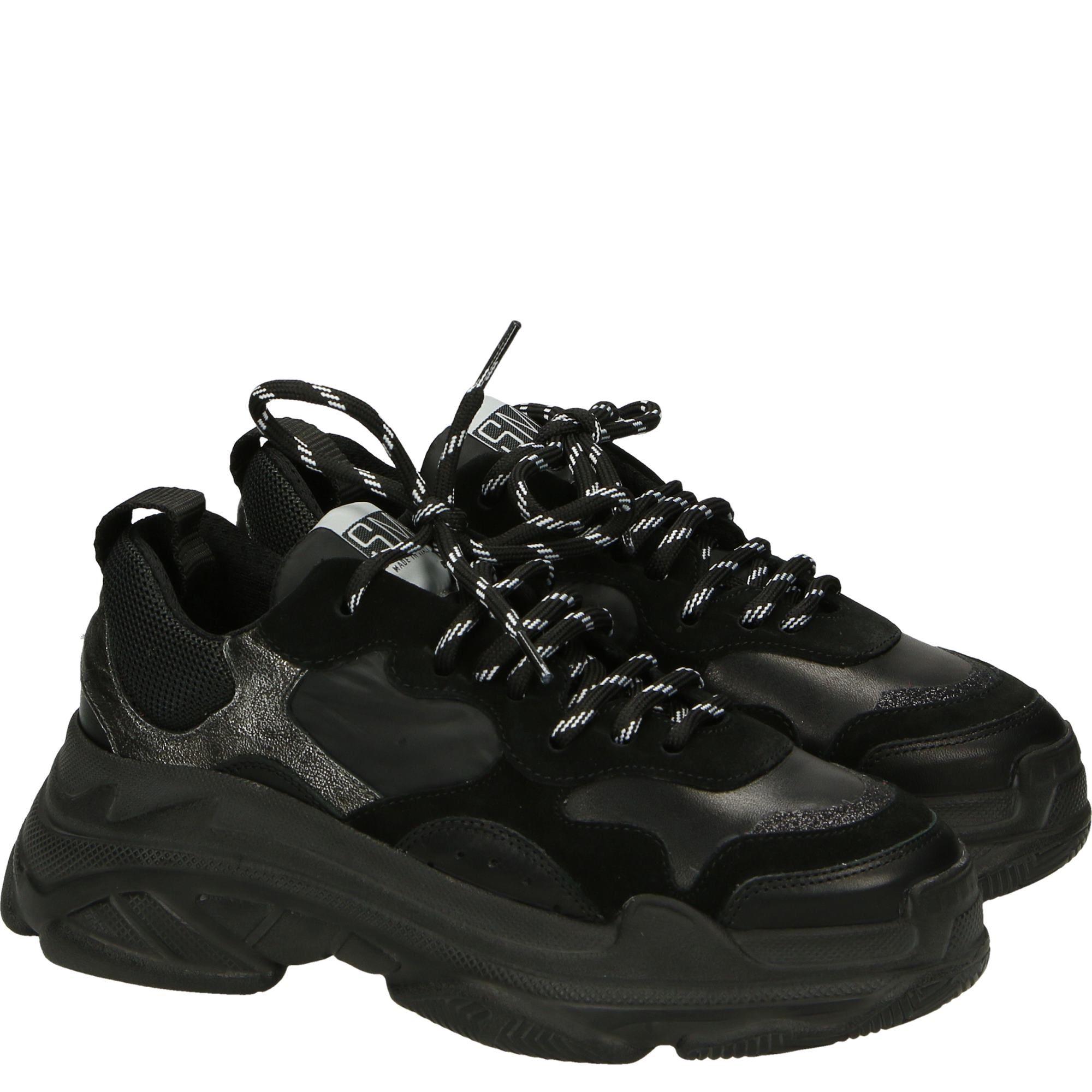 Sportowe Polbuty Na Masywnej Podeszwie Er337e1 V6 Ne Fa All Black Sneakers Boots Black Sneaker