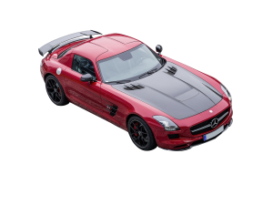 2 Seater Luxury Grand Tourer Automobile The Red SLS AMG Roadster Mercedes  Benz SLS AMG