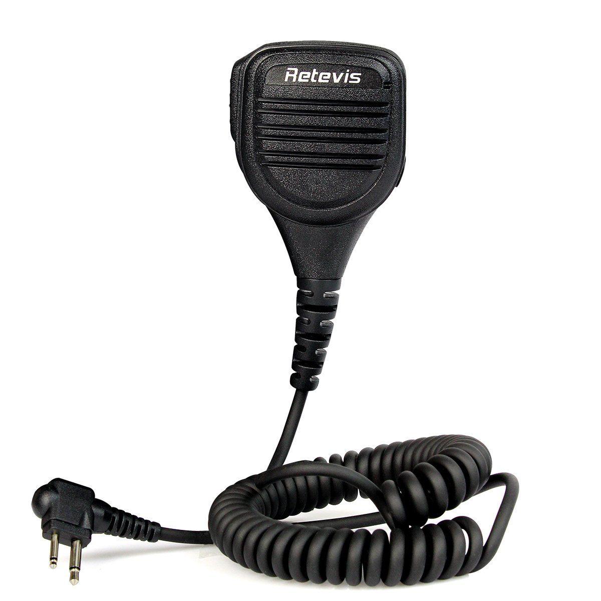 Retevis 2 Pin Speaker Mic For Motorola Gp68 Gp88 Gp300 Gp2000 Ct150 Two Way Radio 1 Pack Walkie Talkie Two Way Radio Motorola