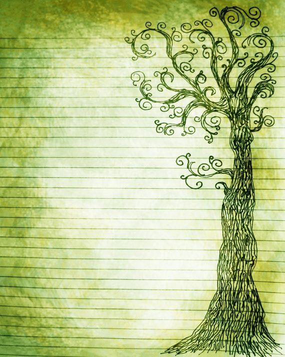 Printable Journal Page, Instant Download, Rainbow Digital - printable loose leaf