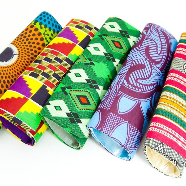 african print clutches