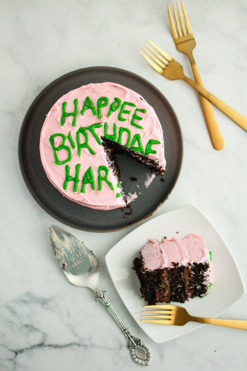 Harry potter birthday cake from hagrid harry potter
