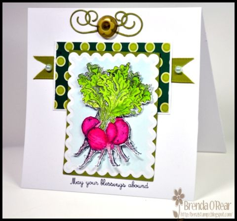 Hope Shellied Likes Beets by Benzi - Cards and Paper Crafts at Splitcoaststampers...A case of Shellie aka Shellied as FS on SCS