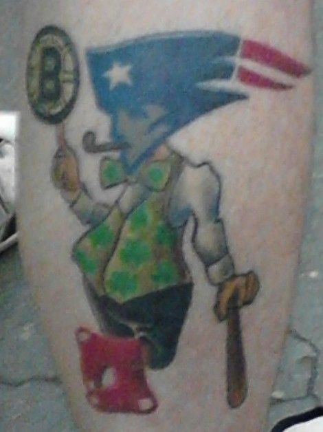 Boston Sports Tattoo : boston, sports, tattoo, Fundamental, Essence, Boston, Captured, Single, Deranged, Tattoo., Sport, Tattoos,, Sports,, Tattoo