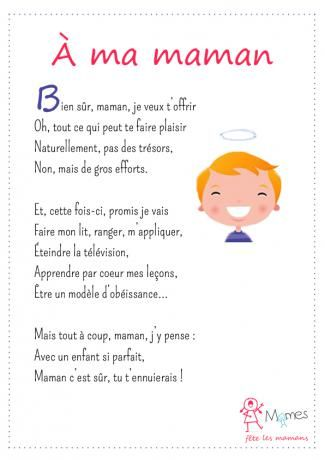à Ma Maman Poème Fête Des Mères Poeme Maman Et Poésie