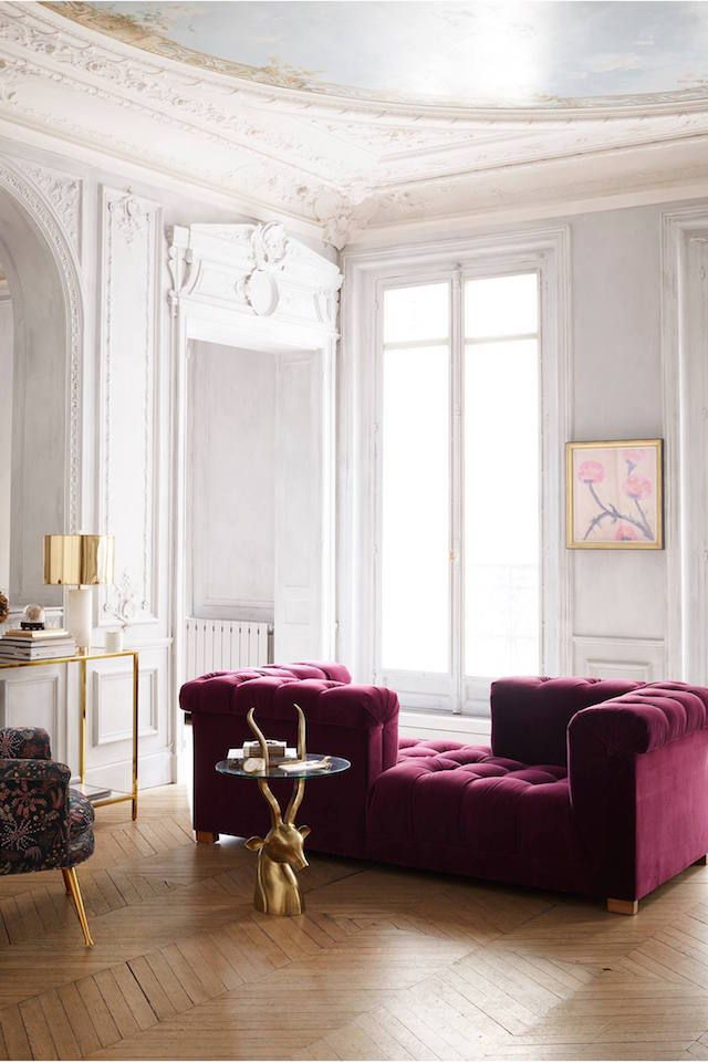 20 Interiors That Prove The Velvet Trend Is Going Strong Pleasing Burgundy Living Room Decor Design Ideas