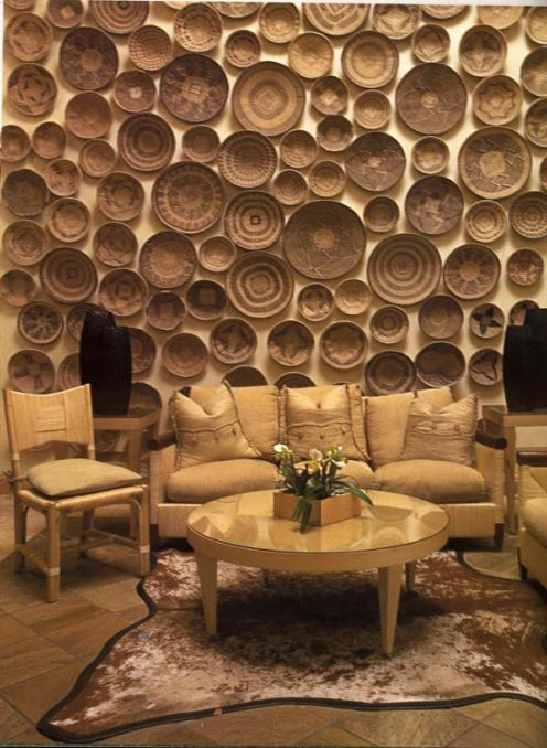 Textured And 3d Walls Wall Coverings Baskets On Wall African