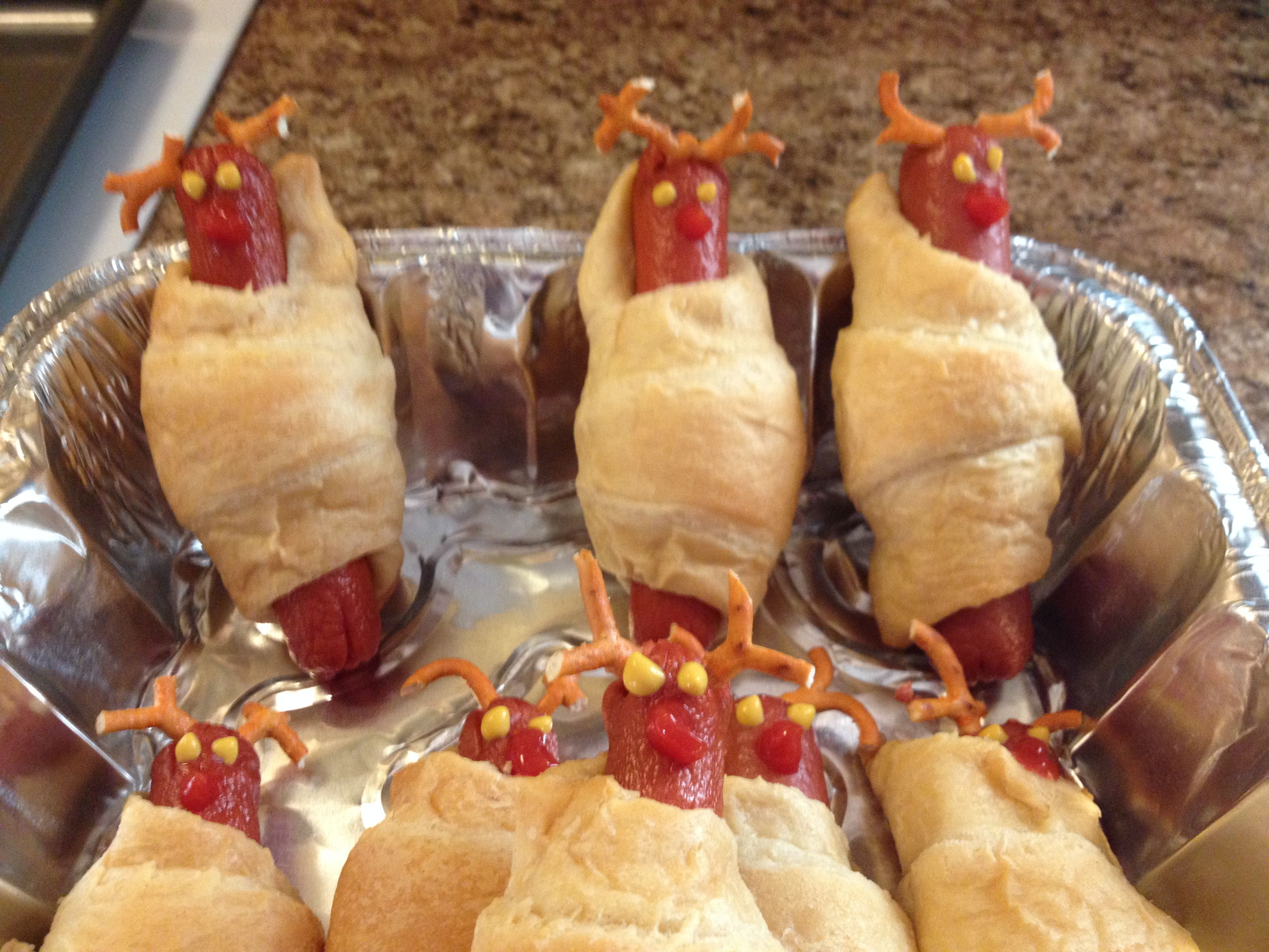 miniature foodpolymerclay FoodFimo Food Pig In Blanket Christmas Ornament