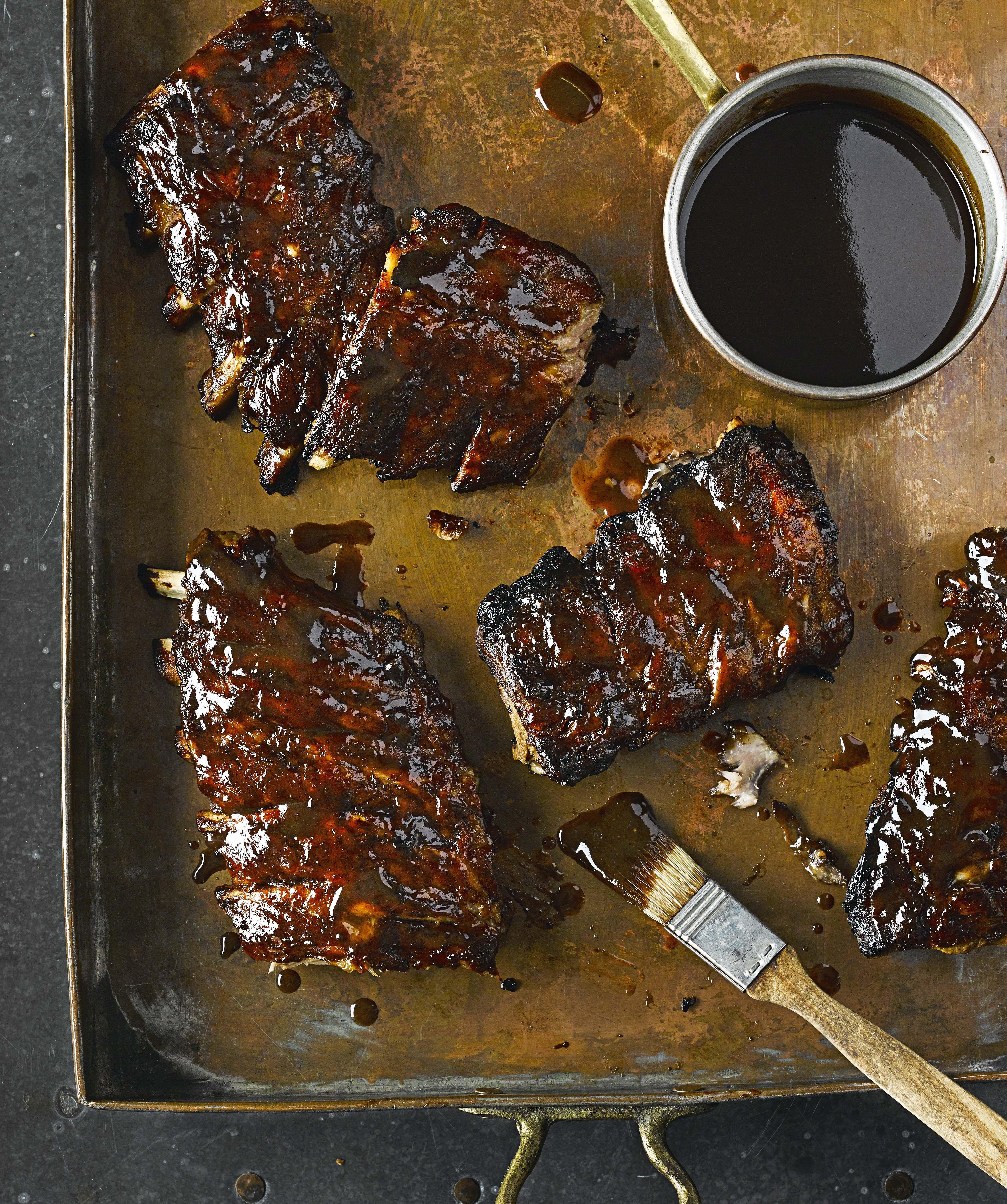 Fall-apart bourbon ribs