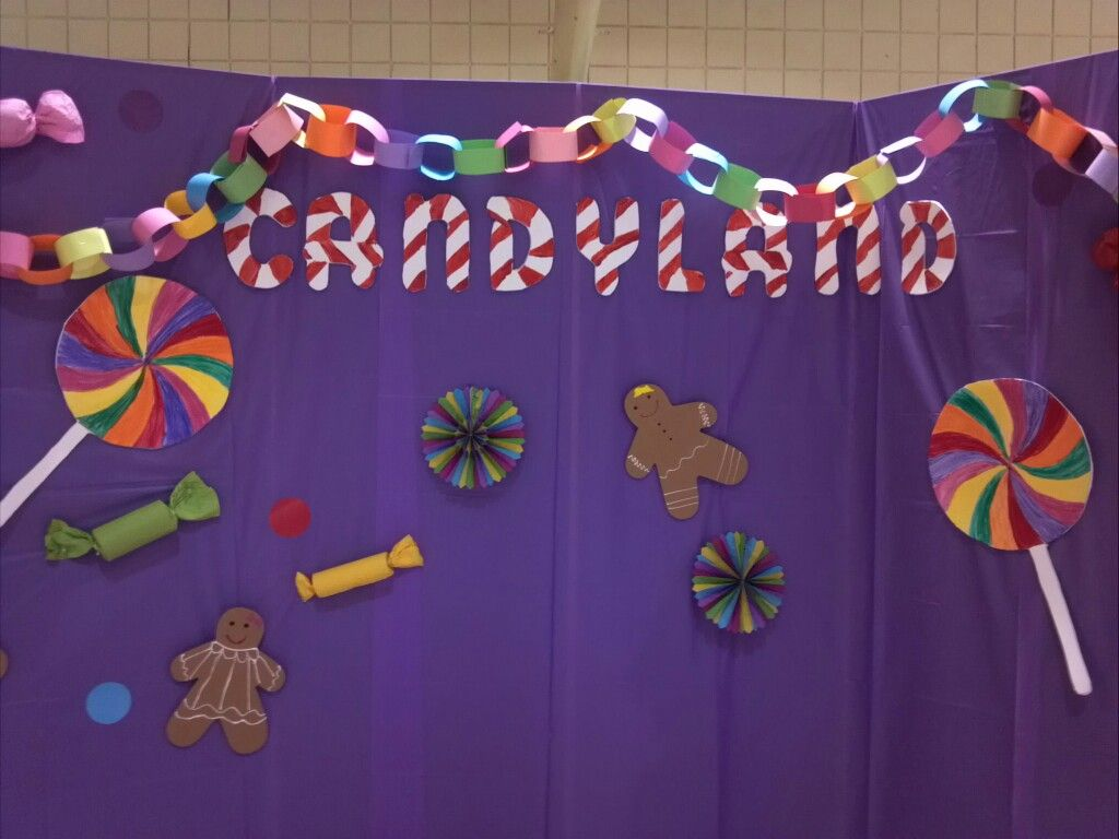 Candyland party...looks like cheap decoration ideas #candylanddecorations