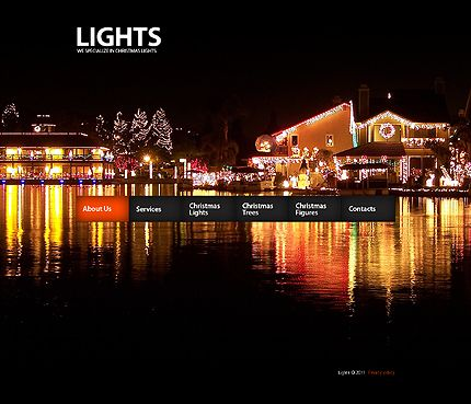 Christmas Template - Template 31784 - Christmas Lights Website Template Creative