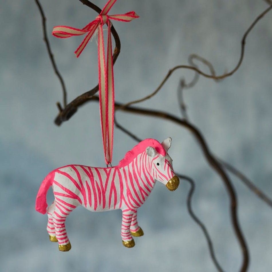 fantastic zebra hanging decoration - Christmas Zebra Decorations
