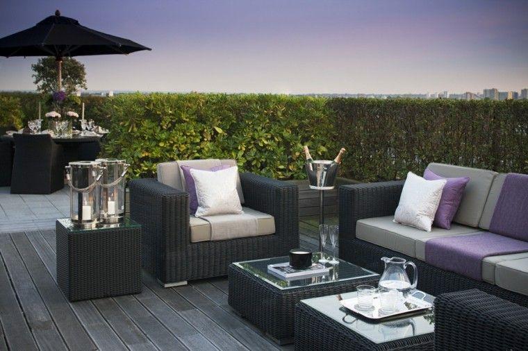 Decoracion terraza aticos dise os modernos de gran for Diseno de muebles de jardin al aire libre