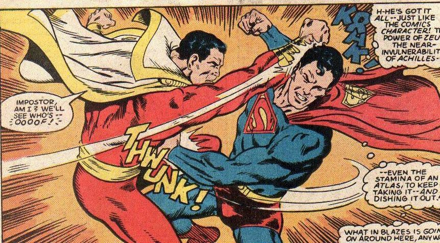Resultado de imagem para capitão Marvel e Superman