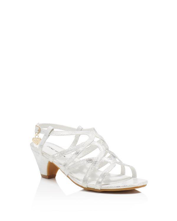 62b720cc37e Stuart Weitzman Girls  Verna Butterfly Metallic Low Heel Sandals - Little  Kid