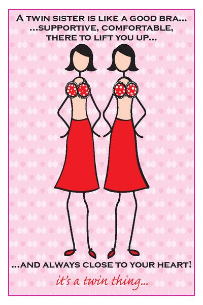 Twin sister bra birthday card old birthday ideas pinterest twins twin sister bra birthday card bookmarktalkfo Images