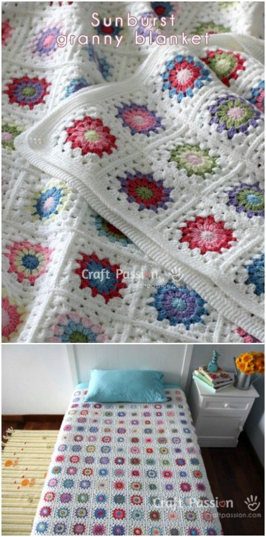 25 Quick And Easy Crochet Blanket Patterns For Beginners | Square ...
