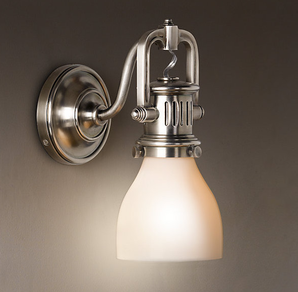 Not sure how my husband would feel about spending $260 per light fixture, but these are very cool.