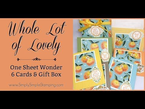 (15) Facebook LIVE Rewind - One Sheet Wonder - Whole Lot of Lovely by Connie Stewart - YouTube