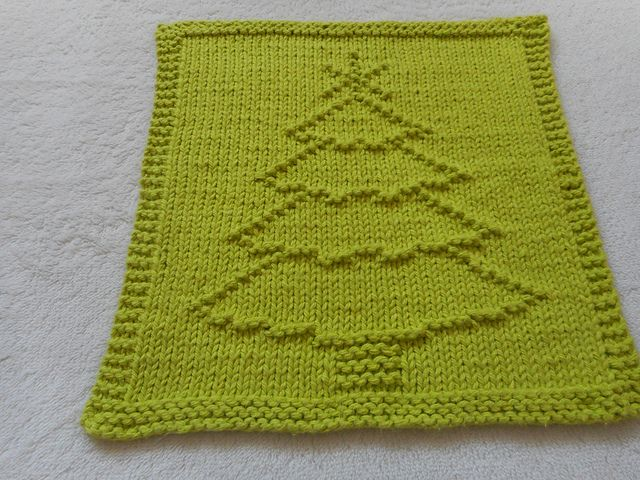 Classic Christmas Tree Dishcloth Knitting Patterns Dishcloth Crochet Pattern Christmas Knitting Projects