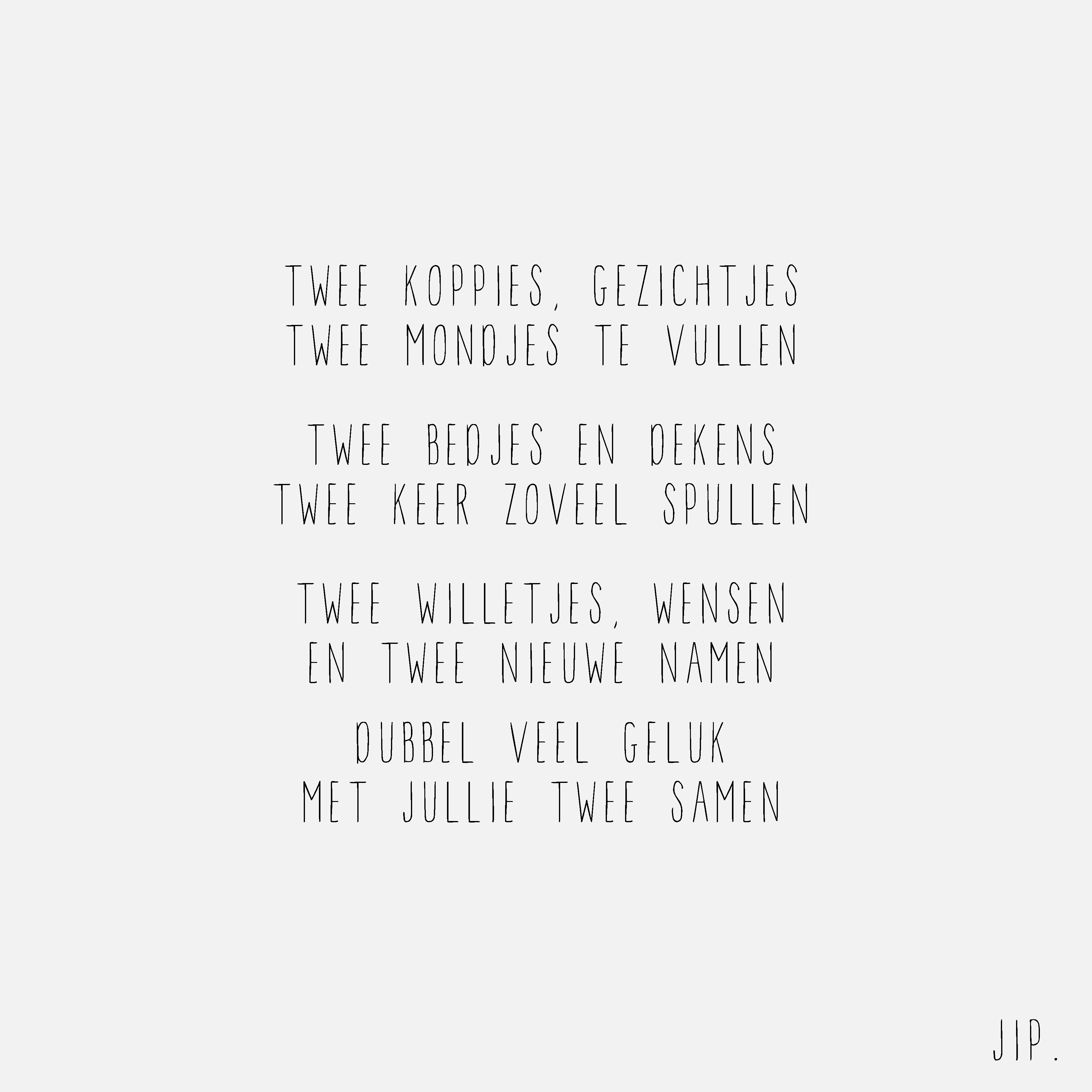 Gedicht Geboorte Tweeling Felicitatie