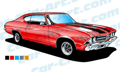 69 Chevelle SS 396 Vector Clip Art | Cars, Art and Chevelle SS