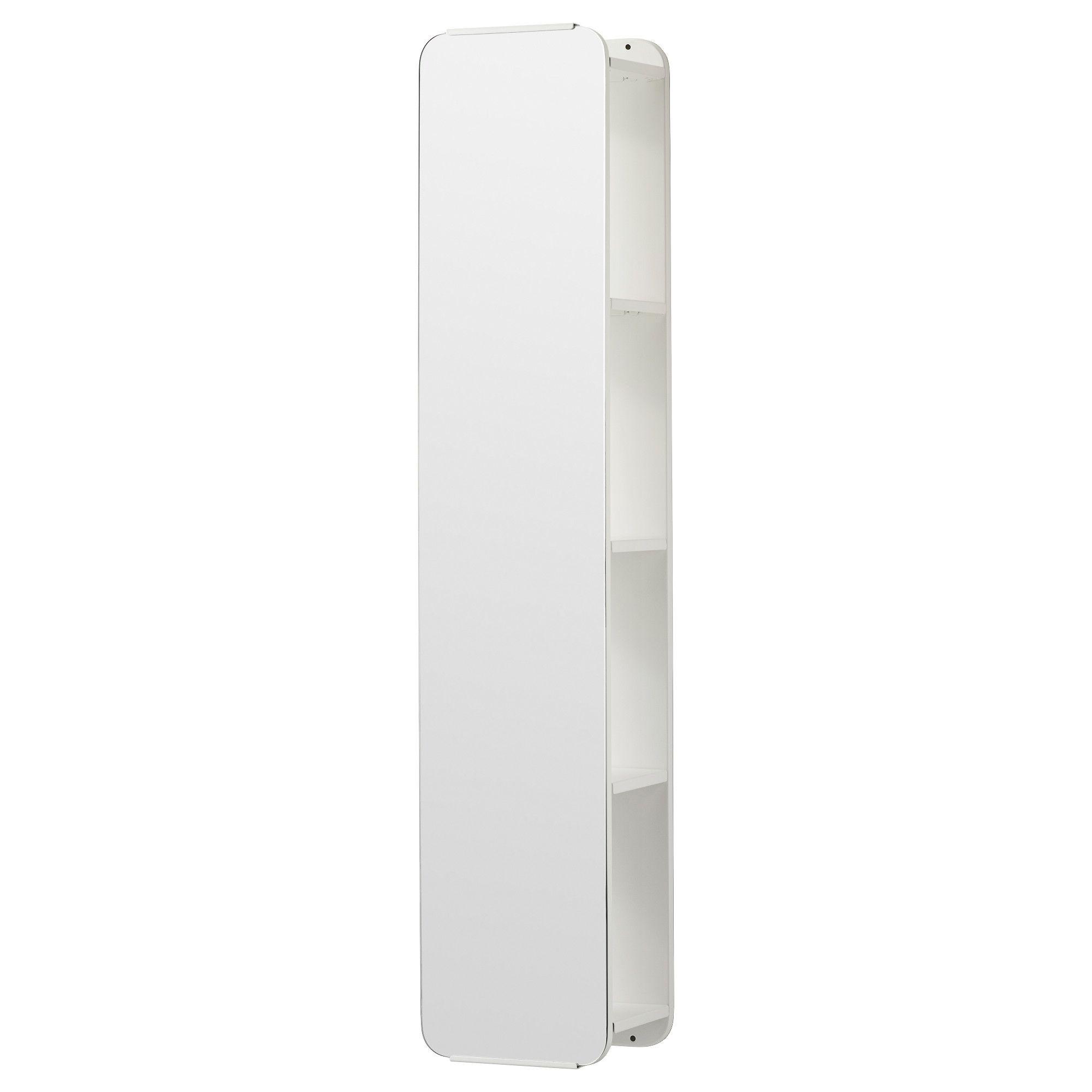 Brickan espejo con almacenaje blanco el espejo esquina for Espejo que sale en una pelicula