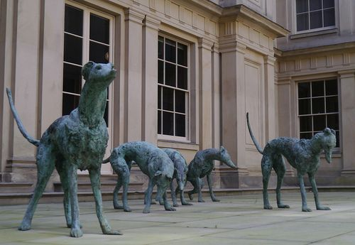 Italian English Animsld: Greyhounds, Nicola Hicks, Bronze Chatsworth House