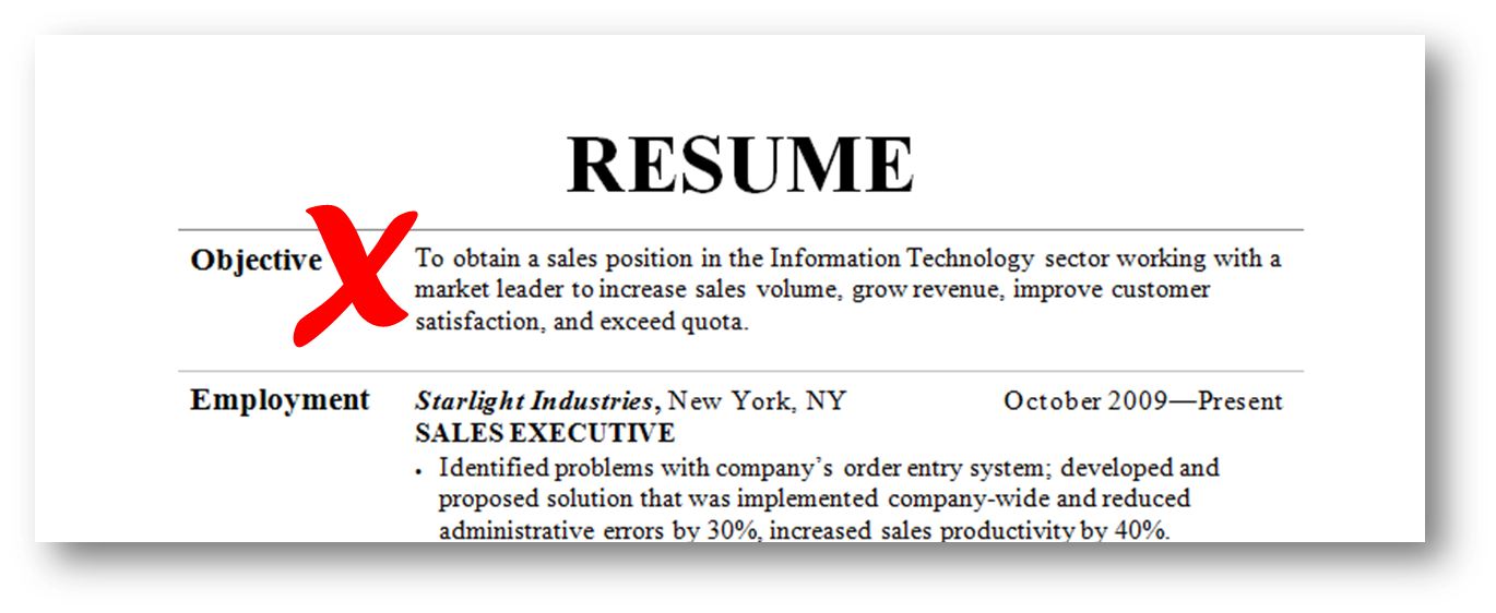 here is how to make a strong objective for your resume that will set the tone - Objectives Professional Resumes