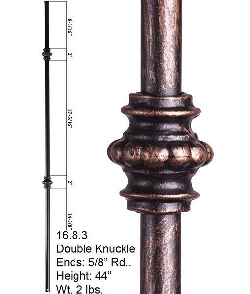 Best Hf 16 8 2 Double Knuckle Round Hollow Iron Baluster 400 x 300