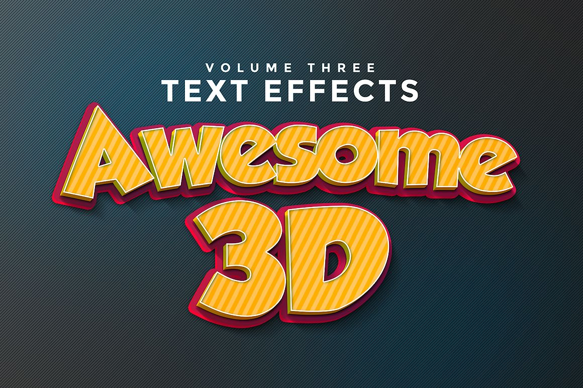 3D Text Effects Vol.3 by Zeppelin Graphics on @creativemarket