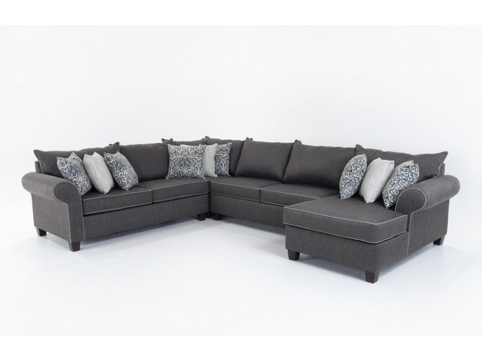 Best Ashton 4 Piece Left Arm Facing Sectional Bobs Furniture 400 x 300