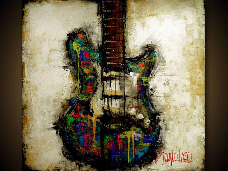 Modern Abstract Guitar Art By SLAZO