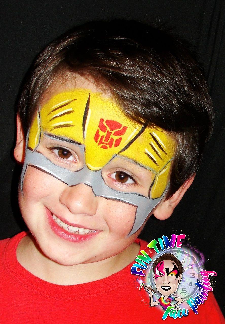 Transformer Face Paint : transformer, paint, Bumblebee, Paint, Ideas