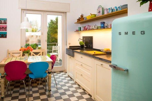 Smeg Kühlschrank Fab28rv1 : Smeg kühlschrank fab pastellgrün dezente farben in der küche