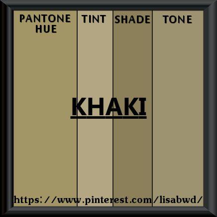 PANTONE SEASONAL COLOR SWATCH KHAKI | Color Thesaurus ...