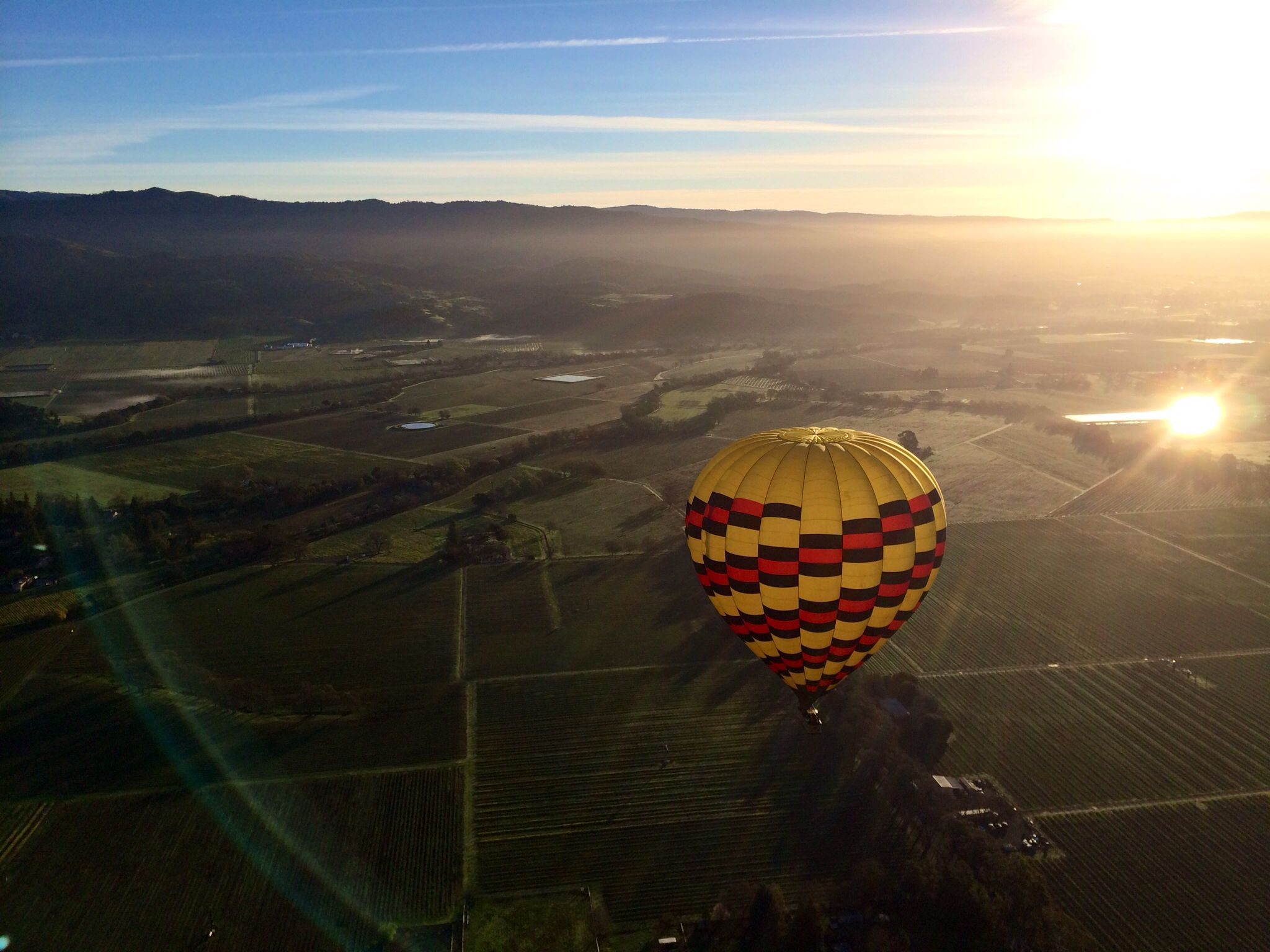 Hot Air Balloon over Napa Valley, CA Napa valley