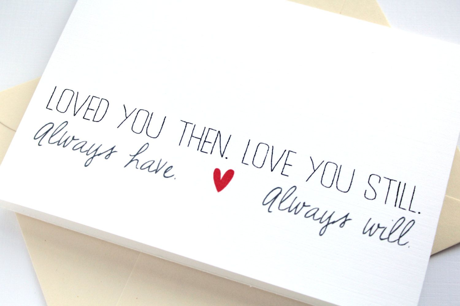 Love card valentines day card anniversary card simple and sweet