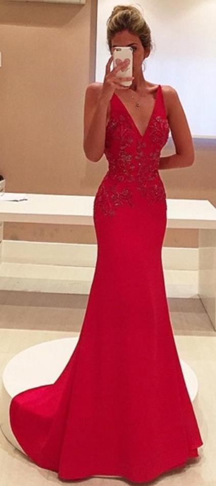 Red Prom Dresses Charming Evening Dress Prom Gowns Lace Prom Dresses 2017 New Prom Gowns Red Evening Go In 2020 Red Evening Gowns Red Prom Dress Long Prom Dresses 2017