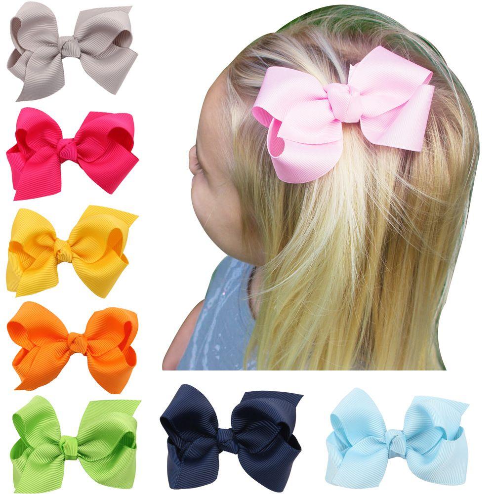 137f6154bc3e4 5 Pcs Lot Newborn Girl Ribbon Bows Clips Hairpin Girl s hairbows Boutique Hair  Clip Headware Kids Hair Accessories