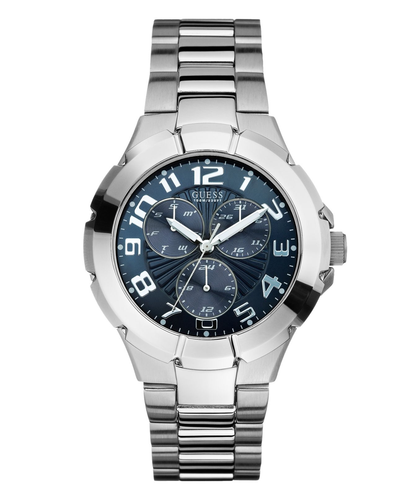GUESS Watch, Men's Stainless Steel Bracelet 40mm U10607G1 - Men's Watches - Jewelry & Watches - Macy's