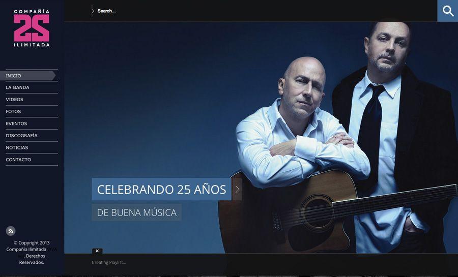 Sitio web para COMPAÑÍA ILIMITADA - Año ©2014