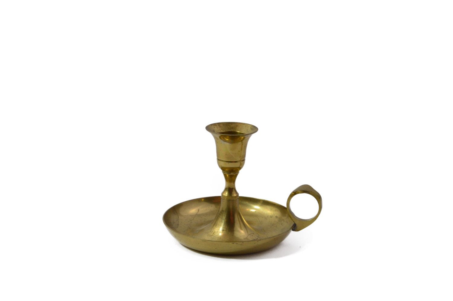 Candle Holder Brass Chamber Candle Holder Candlestick Brass Old Bar Country Decor Country Living Vintage Style