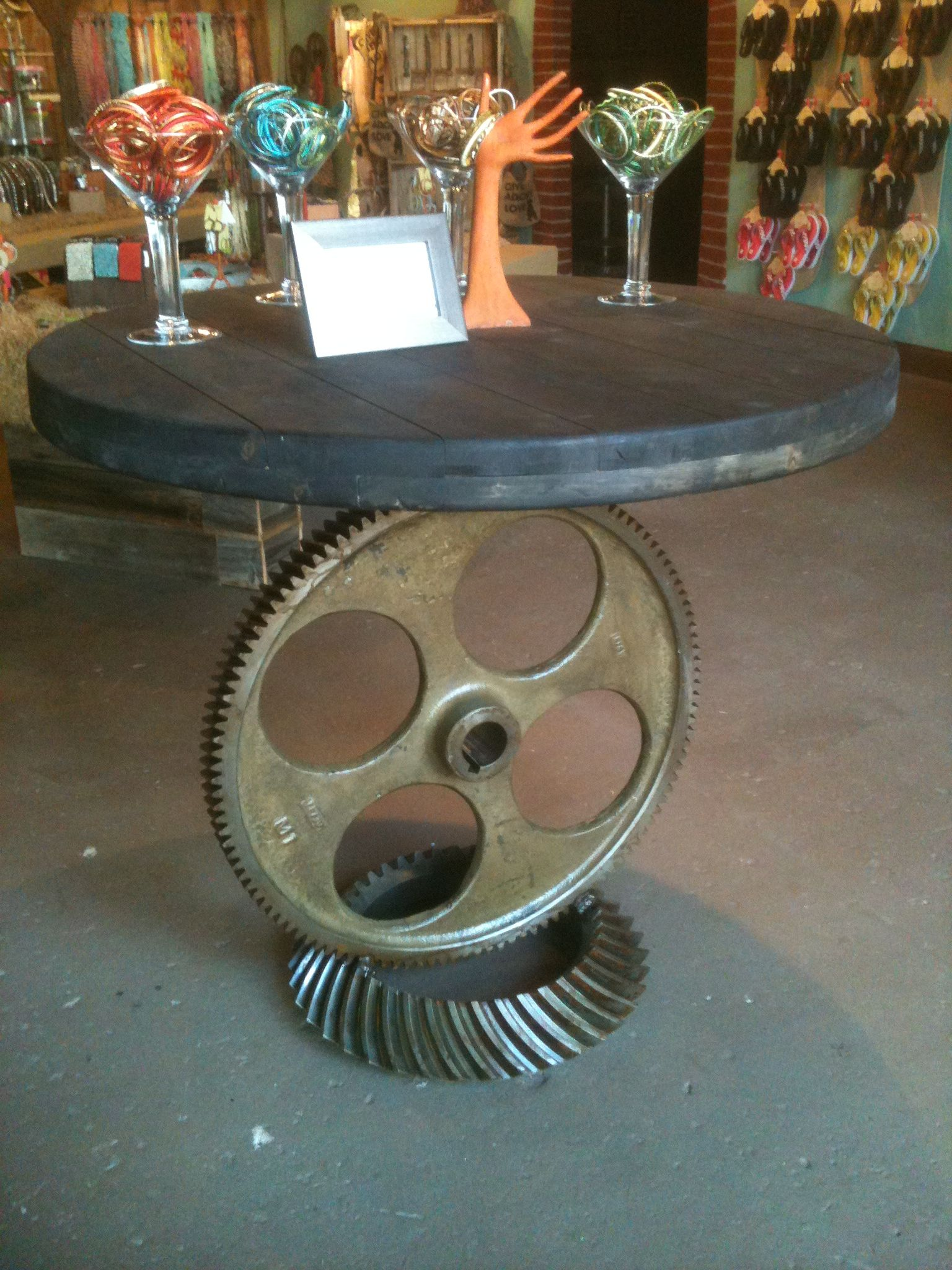 attractive ideas steampunk furniture. Steampunk table with cog wheel and pipes  Gear Table gears Furniture Pinterest Industrial