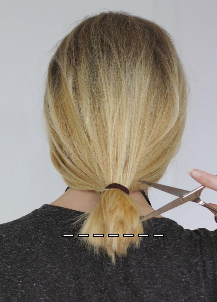 Schulterlange haare selber schneiden