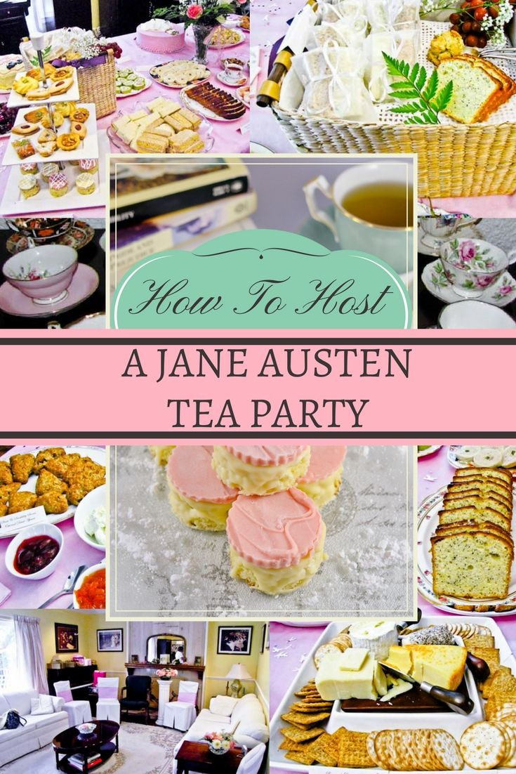 d204a81e86ac How to host your very own Jane Austen tea party! Menu ideas