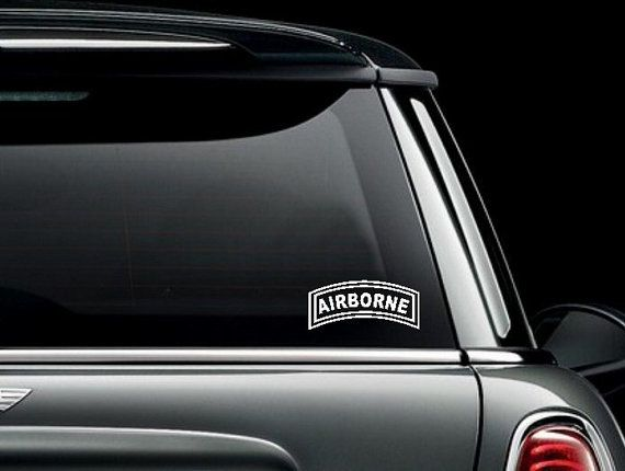 US Army Airborne Tab Custom Car Truck Van Window Or By Diver - Custom car window decals stickers