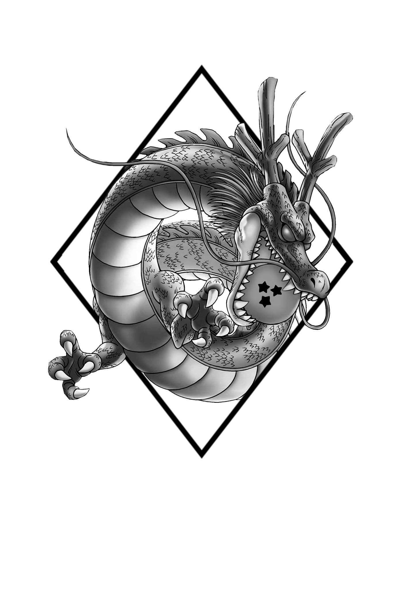 Cabezas De Dragones Para Tatuar shenlong tattoo design | diseños de tatuaje de dragón