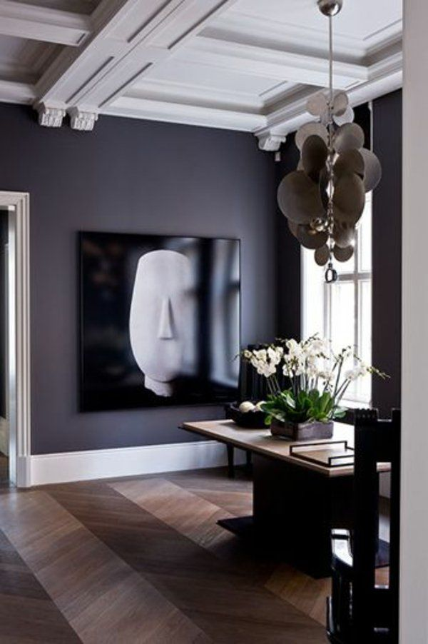 attraktiv abstrakt wandgestaltung mit farbe wände gestalten kunst, Wohnzimmer dekoo