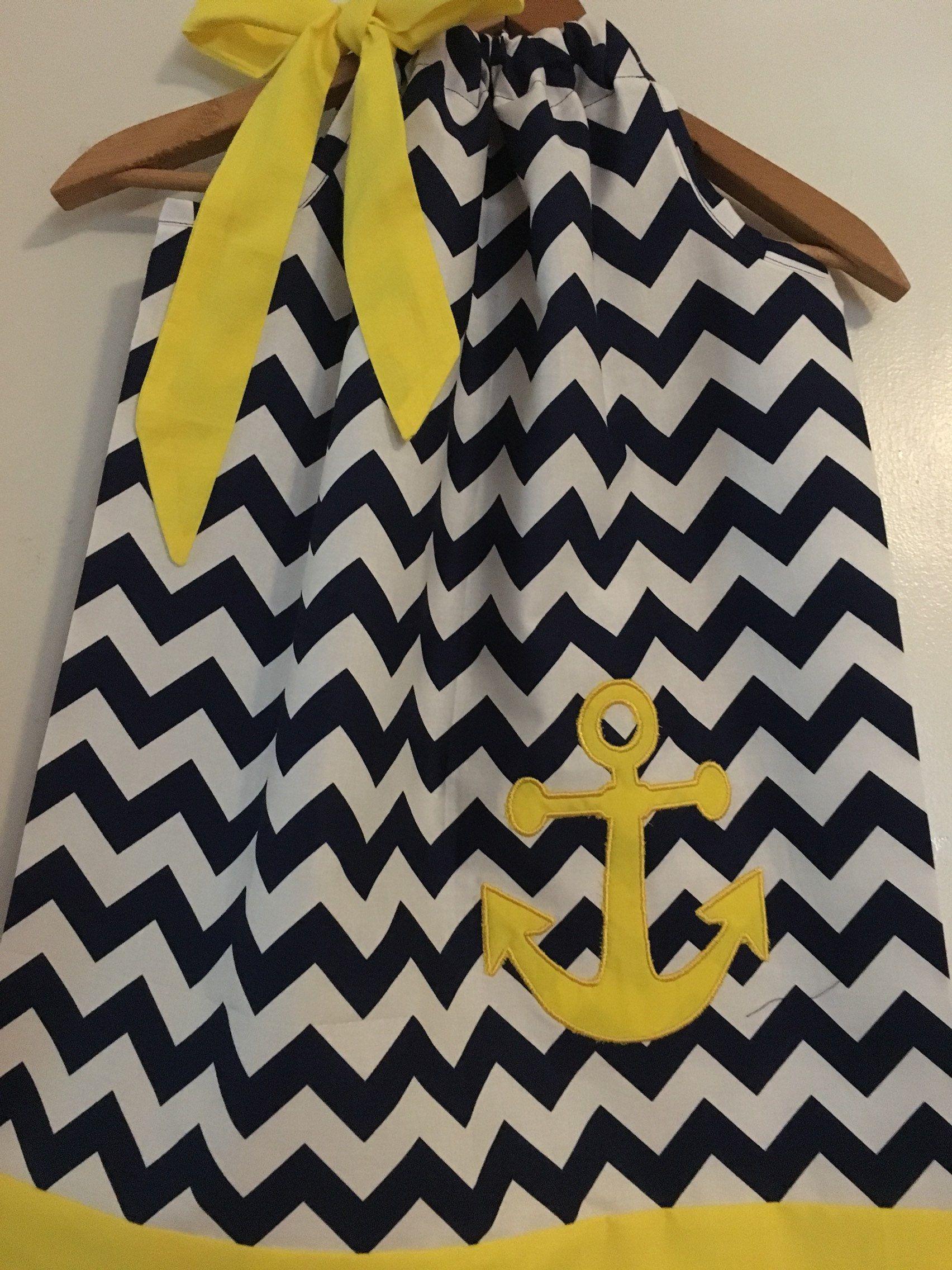 Yellow dress 3-6 months  Cruise dress Anchors dress Disney Cruise dress white blue Disney